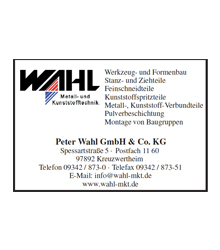 Peter Wahl GmbH & Co. KG